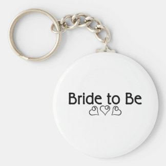 Bride To Be (Hearts) Keychains