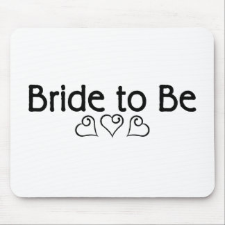 Bride To Be Hearts Mouse Pads