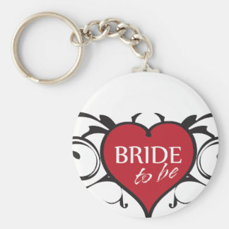 Bride to Be Rocker Key Chain