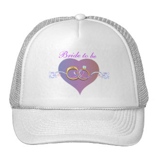 BRIDE TO BE WEDDING BAND RING HAT