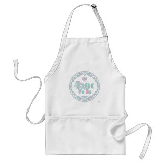 Bride To Be With Veil Fancy Pink - Teal Vintage Apron