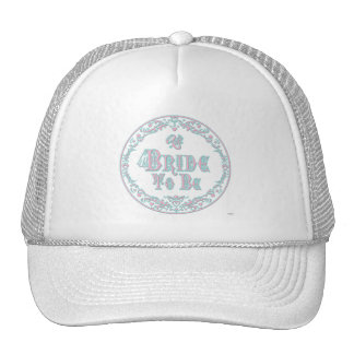 Bride To Be With Veil Fancy Pink - Teal Vintage Hat