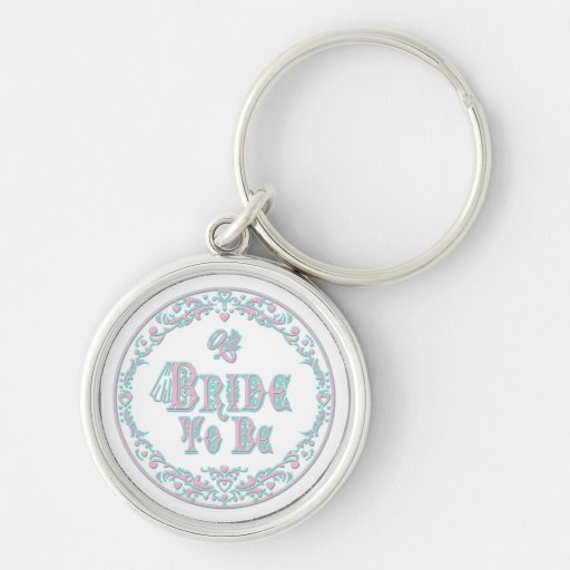 Bride To Be With Veil, Fancy Pink - Teal Vintage Key Chains