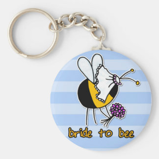 bride to bee basic round button key ring