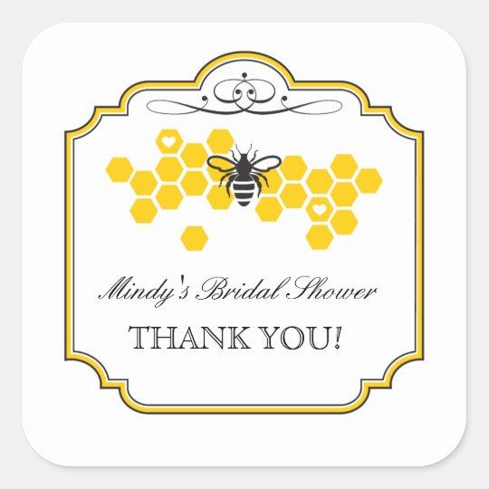 Bride to Bee Bridal Shower Favour Sticker