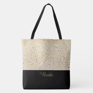 Bride Tote Bag Beige & Petite Golden Stars