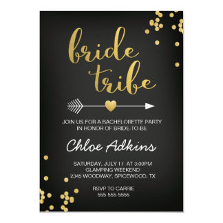 Bride Tribe Bachelorette Invitation
