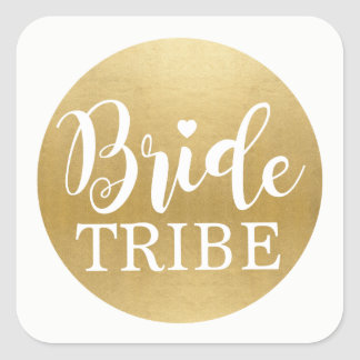 Bride Tribe Bridal Shower Stickers Gold Bridal