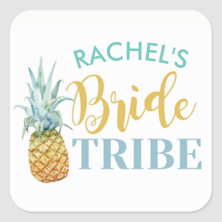 BRIDE Tribe Bridal Shower Stickers Pineapple Luau
