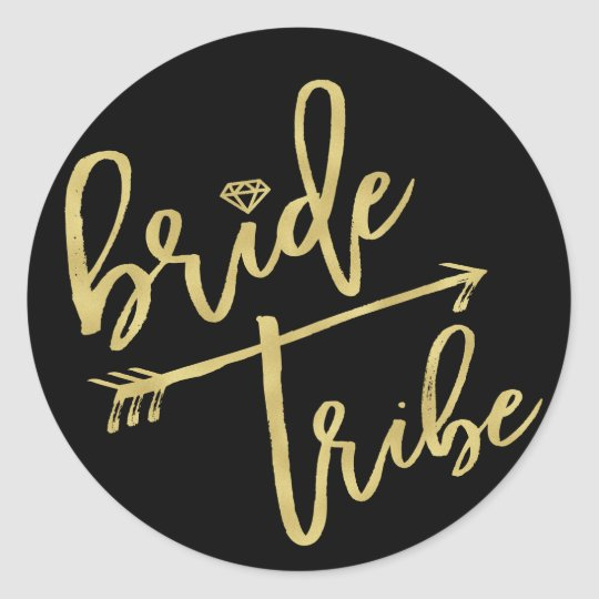 Bride Tribe Diamond Bridal Party Wedding Stickers