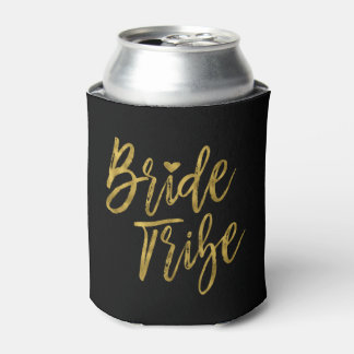 Bride Tribe Faux Gold Foil and Black with Heart