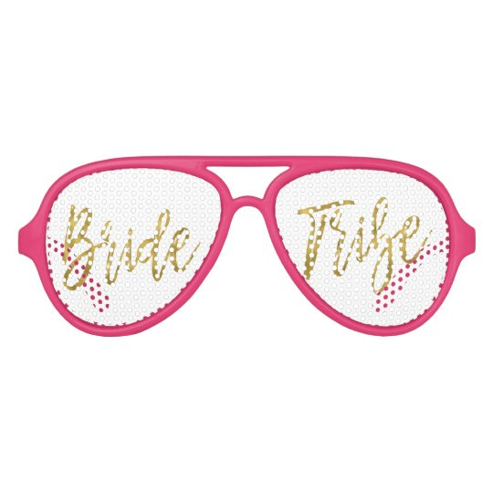 Bride Tribe Gold Foil Party Sunglasses