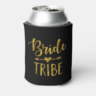 Bride Tribe Gold Foil Trendy Can Cooler