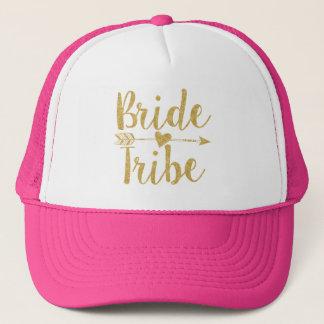 Bride Tribe Golden Glitter-Print Trucker Hat