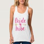 Bride Tribe | Heart| Hot Pink Flowy Racerback Tank Top