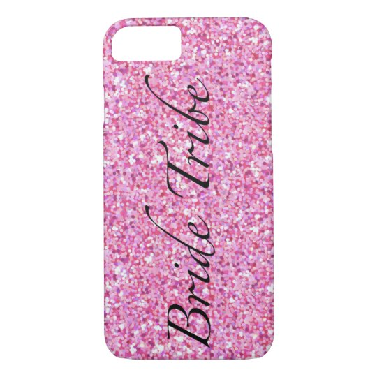 Bride Tribe Pink Glitter Phone Case