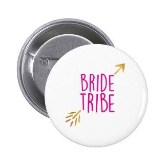 {Bride Tribe} Pink & Gold 6 Cm Round Badge