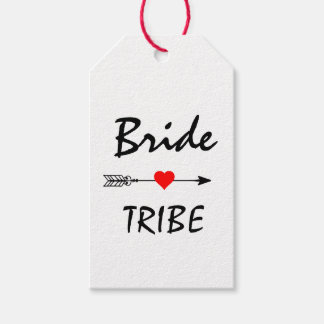 Bride Tribe Red Heart Arrow White Gift Tags
