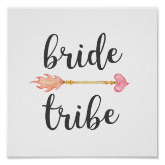 Bride Tribe Tribal Heart Arrow Poster