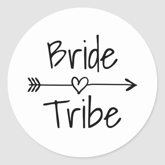 Bride Tribe wedding party favour stickers and