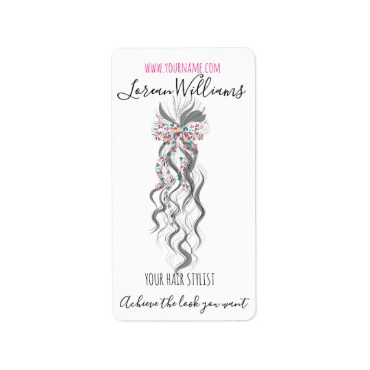 Bride Wavy hair floral wreath Hairstyling branding Label
