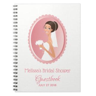 Bride Wedding Attire Bridal Shower Guestbook Notebook