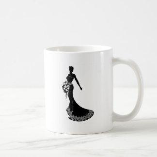 Bride Wedding Bouquet Silhouette Coffee Mug