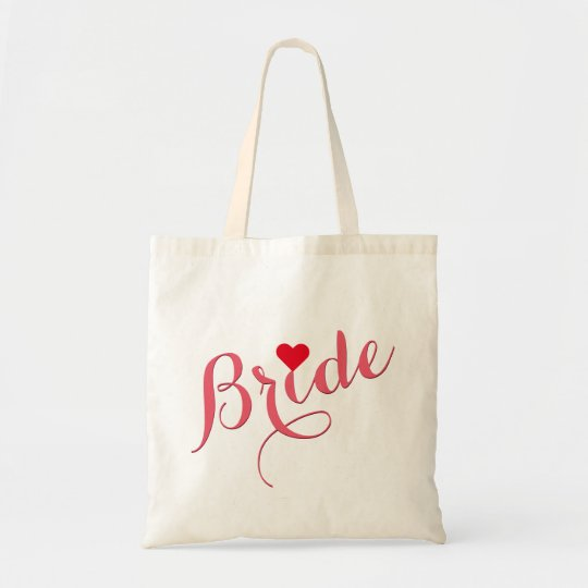 Bride Wedding Bridal Shower Elegant Slim Tote Bag