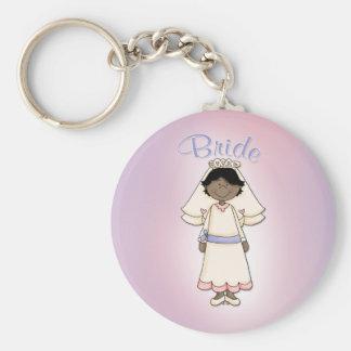 Bride - Wedding Design Basic Round Button Key Ring