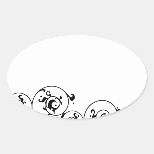 Bride wedding fashion silhouette oval sticker