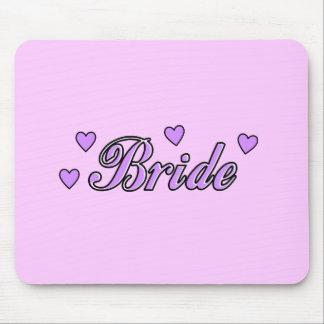 Bride Wedding Hearts Mouse Pad