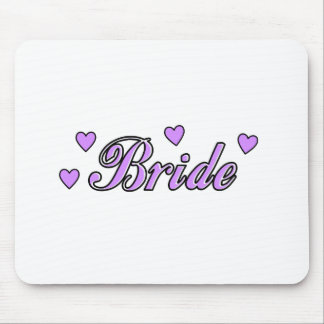 Bride Wedding Hearts Mousepad