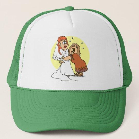 Bride wedding humour trucker hat
