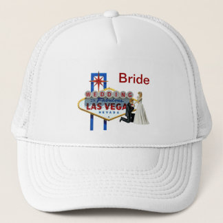 """Bride"" Wedding in Las Vegas Hat"