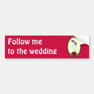 Bride wedding items bumper stickers