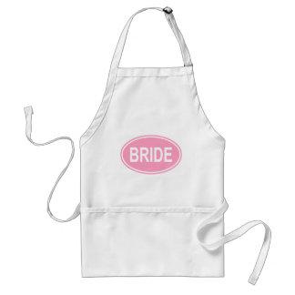 Bride Wedding Oval Pink Standard Apron