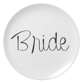 """Bride"" Wedding Party Plate"