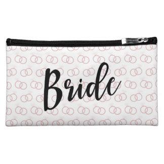 Bride Wedding Ring Pattern Cosmetic Bag