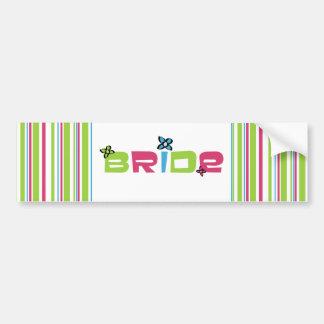 Bride Wedding Stickers Bumper Sticker