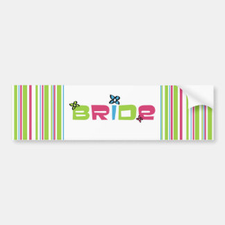 Bride Wedding Stickers Bumper Stickers
