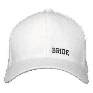 Bride White Hat Embroidered Baseball Cap