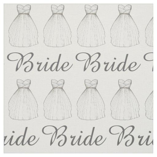 Bride White Wedding Dress Bridal Gown Fabric