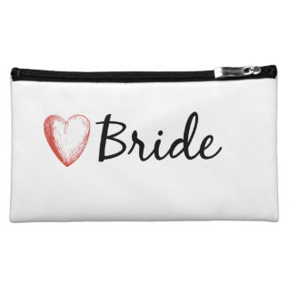 Bride with a heart cosmetics bag cosmetics bags