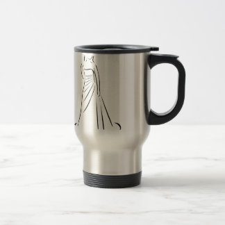 Bride with an elegant hairstyle stainless steel travel mug