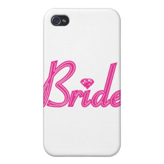 Bride with Bling - Pink Cover For iPhone 4