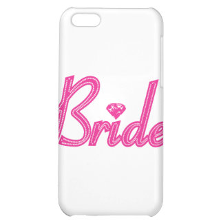 Bride with Bling - Pink Case For iPhone 5C