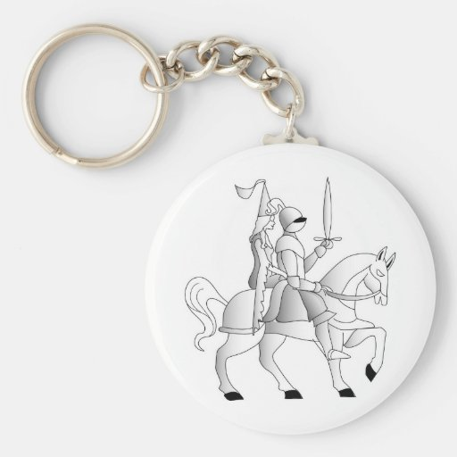 Bride with Knight in Shining Armor Key Chain