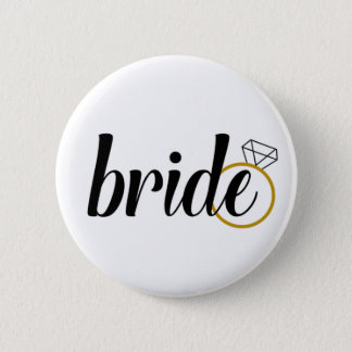 Bride with Ring 6 Cm Round Badge