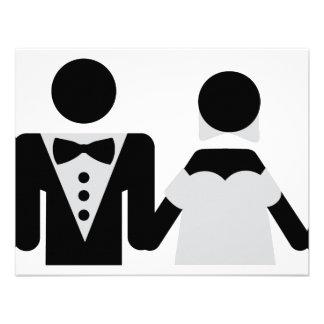 bridegroom and bride marriage icon invitation