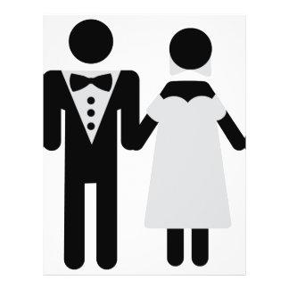 bridegroom and bride wedding icon 21.5 cm x 28 cm flyer